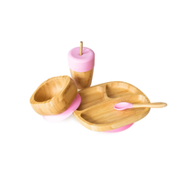 Eco rascals Bamboo suction plate-bowl-spoon and cup Set-Zomorod
