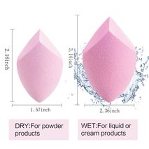 Makeup Sponge Cosmetic Puff For Foundation Concealer Cream - PINK DOUBLE CUT-Zomorod.com