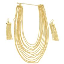 FC Beauty Premium Series Jewelry Sets Women 18k Gold Plated Necklace+ Earrings Set | Zomorod