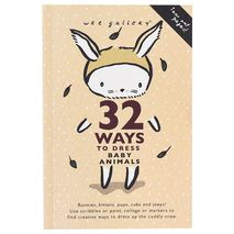 Wee Gallery 32 Ways to Dress Baby Animals Coloring Book | zomorod
