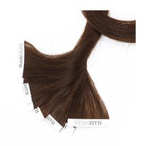 Hairmiles Tape Hair Extension Pack of 10 pieces 4cmx55cm Col:4/8 Highlights-Zomorod.com