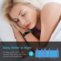Smart watch Bracelet Black Color real-time monitor heart rate & sleeping best Couple Fitness Tracker-Zomorod.com