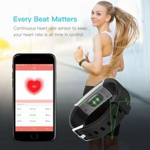 Smart watch Bracelet Gray Color real-time monitor heart rate & sleeping best Couple Fitness Tracker-Zomorod.com