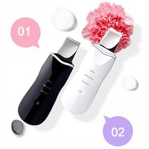Ultrasonic Face Massager Ion Deep Cleaning Skin Microcurrent Scrubber Shovel Facial Pore Blackhead Cleaner Beauty Tools Black Color-Zomorod.com