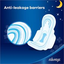 Always Clean & Dry Maxi Thick, Night sanitary pads, 24 pads-Zomorod.com