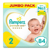 Pampers Premium Care Diapers Size 2 Mini 3-8 kg Jumbo Pack 84 Count-Zomorod.com