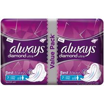 Always Diamond Ultra Sanitary Pads With Wings, Extra Long, 14 Count-Zomorod.com