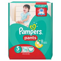 Pampers Pants Diapers, Size 5, Junior, 12-18 kg, Carry Pack, 22 Count-Zomorod.com