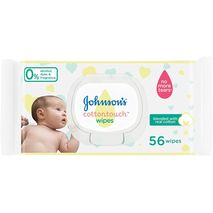 JOHNSON'S Newborn Baby Wipes - CottonTouch, Extra Sensitive Free of alcohol, dyes and fragrance, Pack of 56 wipes-Zomorod.com