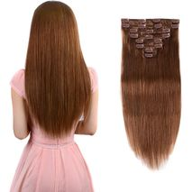 Hair Miles Weft Clip - in Extension - 2pieces - 60CM - light brown-Zomorod.com