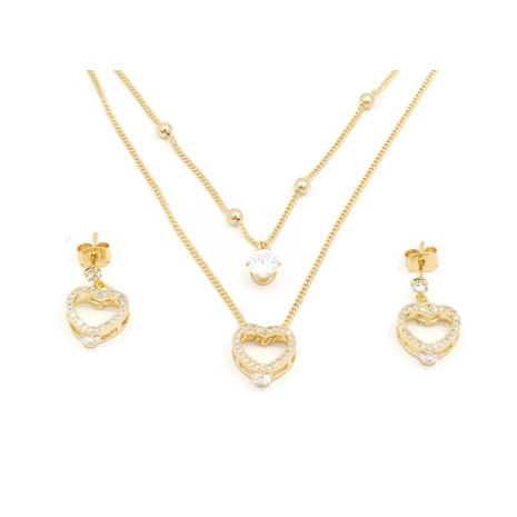 FC Beauty the Hollow Heart Locket necklace with 18k gold plated | zomorod