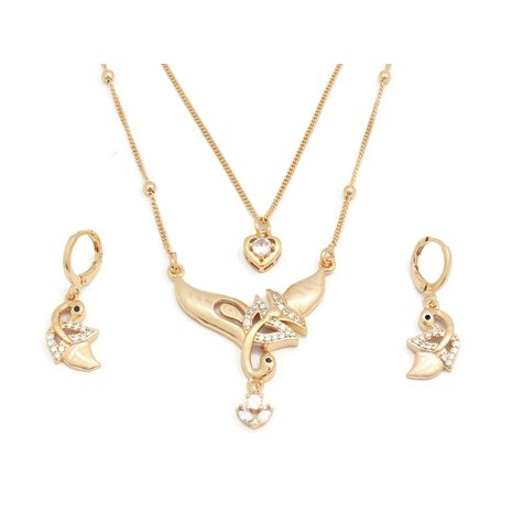 FC Beauty Dancing Swan Locket necklace with 18kt gold plated locket | zomorod