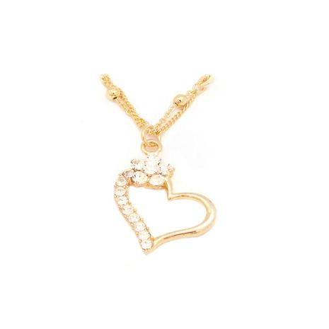 Fc collection the classic hollow heart locket on one side of the heart and the other side with plated in 18kt | zomorod