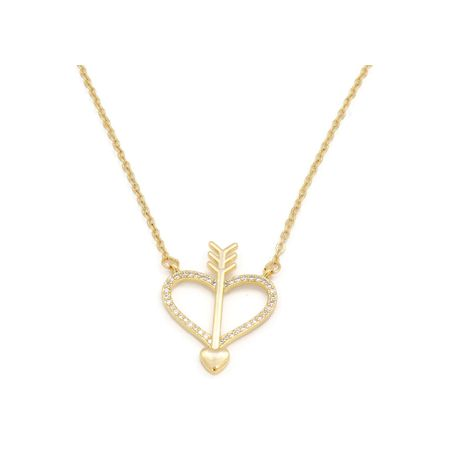 Fc collection THE CLASSIC LOVE ARROW LOCKET PLATED IN 18KT COPPER BASED METAL | zomorod