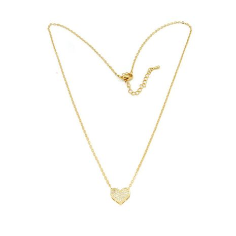 Fc the classic heart studded with cubic zirconia stone locket plated in 18kt | zomorod