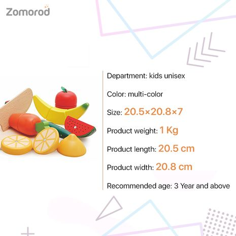 Attractive And Interesting Fruits And Vegetable Cutting Toy For Kids - Al Ostoura Toys-Zomorod.com