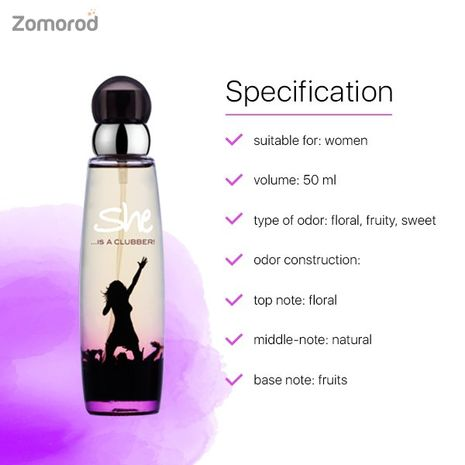 Best Fragrance Of All Time She Is Clubber EDT Perfume 50 Ml-Zomorod.com