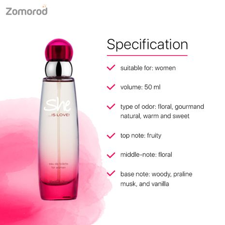 The Lovable And Sweet Fragrance For Women She Is Love EDT Perfume 50 Ml-Zomorod.com