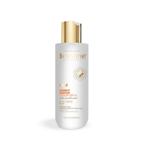 Carrot Suntan Lotion SPF15 200ml Beesline Sun Care