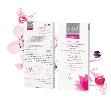 Pure Beauty Body And Bikini Removal Waxing Strips For Normal Skin Pure Beauty Company