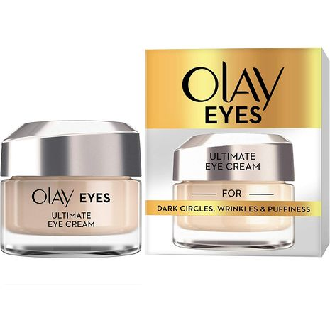 Olay Eyes Ultimate Eye Cream with Niacinamide for Dark Circles, Wrinkles and Puffiness, 15 ml-Zomorod.com