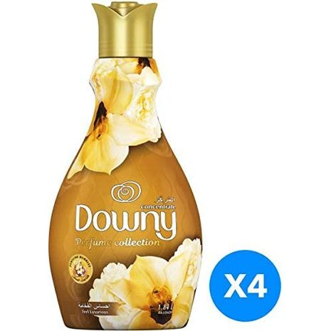 Downy Concentrate Perfume Collection Fabric Conditioner - Feel Luxurious, 4 x 1.84L-Zomorod.com