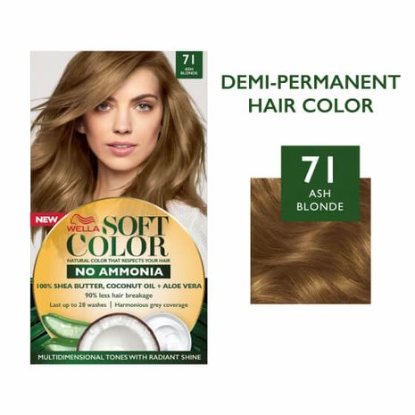 Soft Color, Natural hair color without Ammonia and with 100% Natural Ingredients: Ash Blonde-Zomorod.com