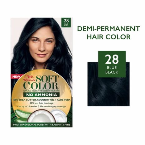 Soft Color, Natural hair color without Ammonia and with 100% Natural Ingredients: Blue Black-Zomorod.com