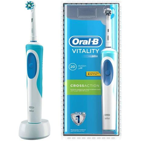 Oral-B Vitality Electric Rechargeable Toothbrush, D12513-Zomorod.com