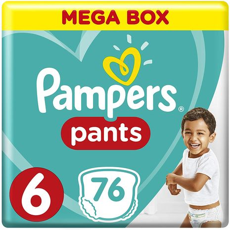Pampers Pants Diapers, Size 6, Extra Large,16kg, 76 Count-Zomorod.com