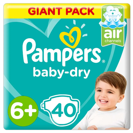 Pampers 6+ baby diapers suitable for children weighing more than 14 kg-Zomorod.com