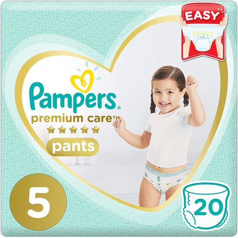 Pampers Premium Care Pants Diapers, Size 5, Junior, 12-18kg, 20 Count-Zomorod.com