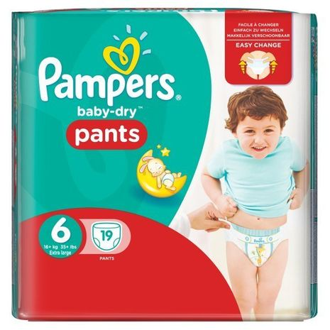 Pampers Baby-Dry Pants Size 6 Carry Pack 19 Nappies-Zomorod.com